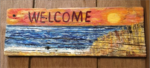 Sea Oats Welcome Sign